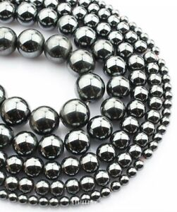 1Strand Rose Gold Hematite Ball Shape Loose Beads 4.6.8.10mm 15.5inch B9694