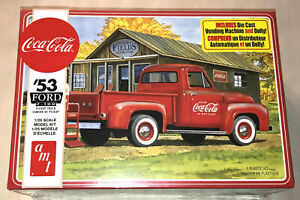 AMT-Coca-Cola-1953-Ford-Pickup-Coke-1-25-scale-model-kit-new-1144