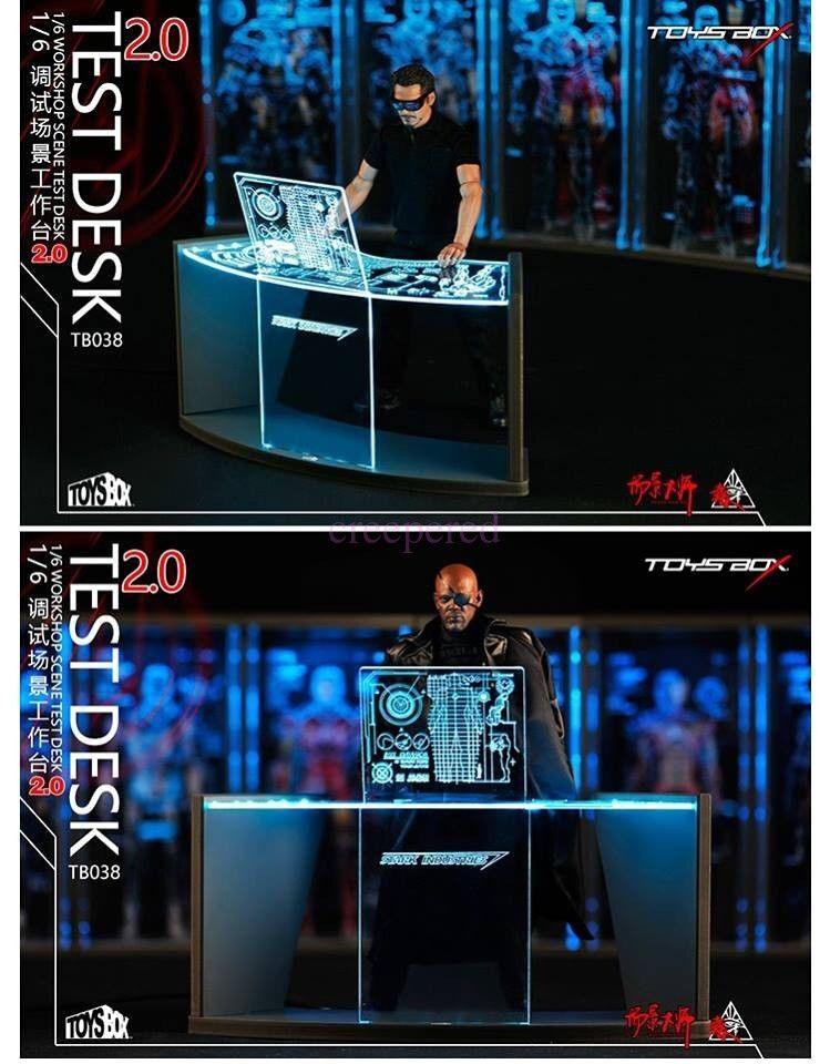 2.0 Workshop Scene Scene Scene Test Desk 1 6 Toys Box Collectible Iron Man Tony Stark TB038 4693d1