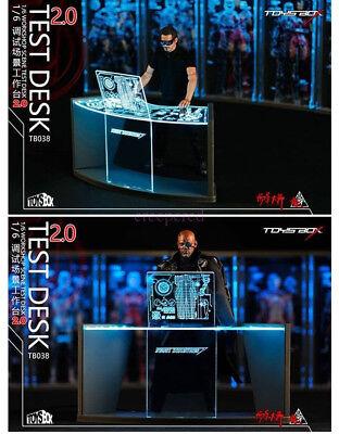 1//6 Toys Box Collectible Iron Man Tony Stark TB038 Workshop Scene Test Desk 2.0