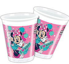 8 Disney\u0027s Minnie Mouse Pink Funky Dots Dance Party 200ml Plastic Cups  sc 1 st  eBay & 8 Disney\u0027s Minnie Mouse Pink Funky Dots Dance Party Small 20cm Paper ...