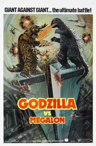 Megalon Silk Fabric Movie Poster Gojira Rare Mothra Ghidor 1973 Godzilla VS