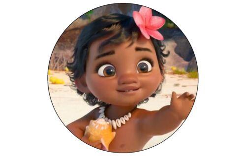 Baby MOANA EDIBLE cake Topper decoration sheet  birthday image cupcake Maui