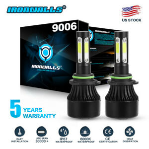 9006 HB4 4-sides LED Headlights Conversion Kit Light Bulbs 1700W 255000LM 6000K