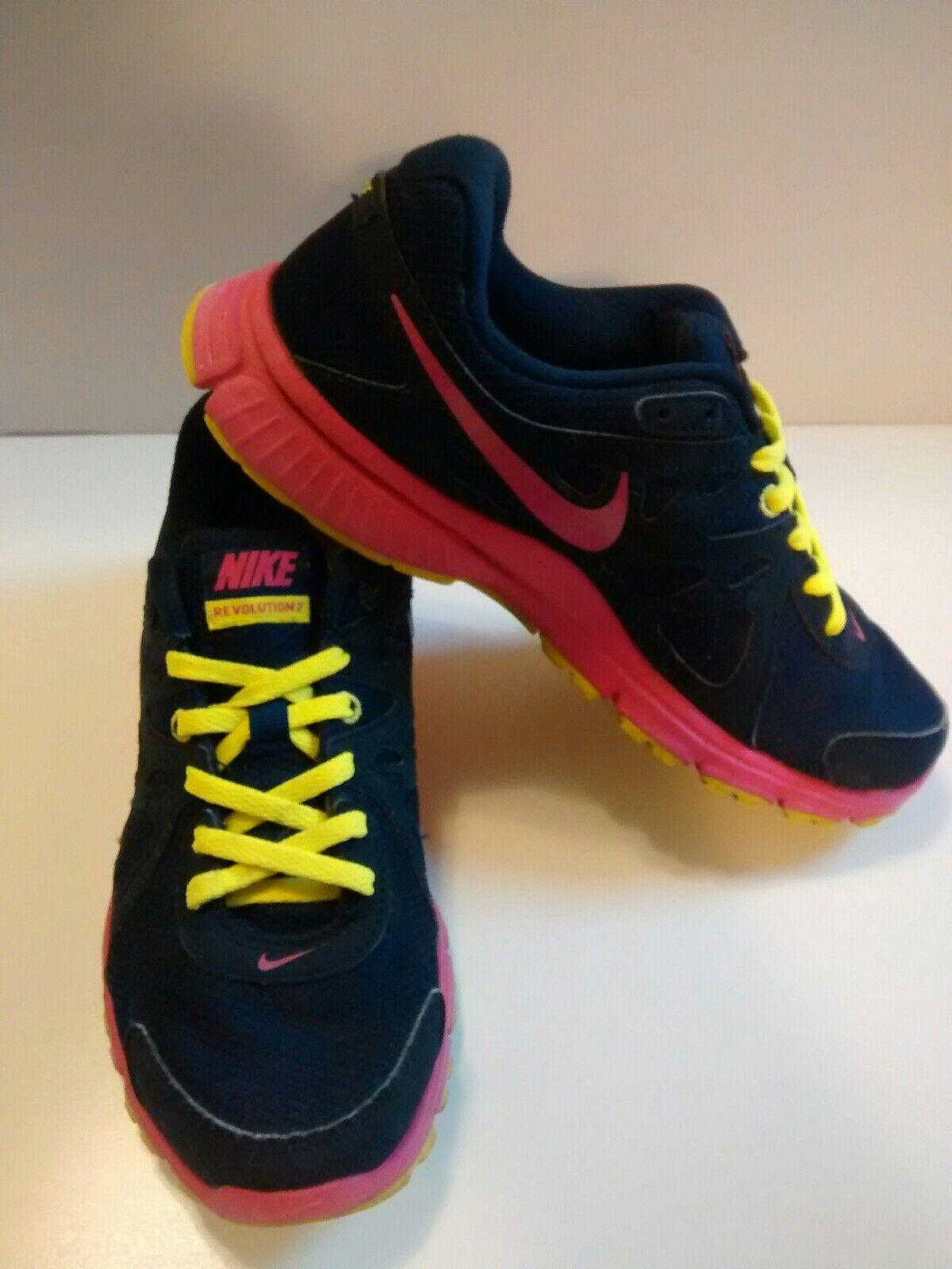 nike révolution 2 femmes des chaussures de taille noir 7 rose jaune 554900463 noir taille 56c7f4