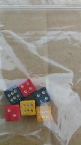 6 X 11 Mm En Bois Dés 6 Faces, Idéal Pour Remplacer Traditionnel Board Games-afficher Le Titre D'origine Activation De La Circulation Sanguine Et Renforcement Des Nerfs Et Des Os