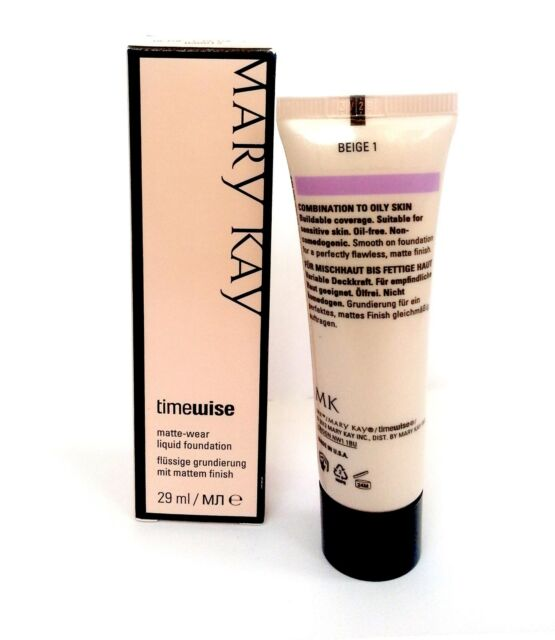 Mary Kay TimeWise Matte Wear Liquid Foundation, Combination / Oily, Ivory, Beige