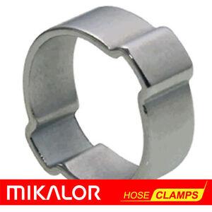 10x Double Hose Clip Metal Galvanised Ø 18//19mm