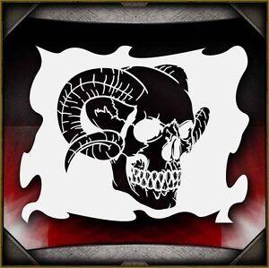 "/""Skull 31/"" Airbrush Stencil Template Airsick"