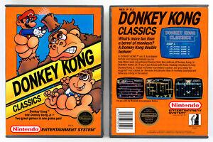 Donkey Kong Classics Nintendo Nes Custom Case No Game Ebay