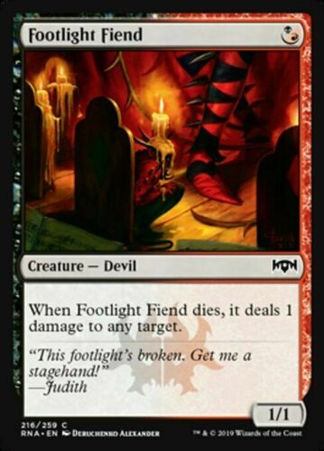 1 x PLAYSET NearMint 4 x Footlight Fiend Magic ~ Ravnica Allegiance