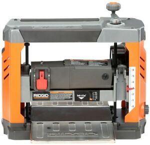 Ridgid Corded Planer 13 Inch Thickness Adjustable Top Mounted Handle