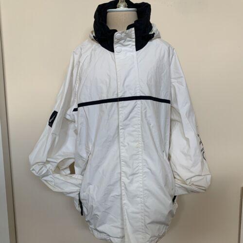 XL  Nautica White Windbreaker Hooded Jacket