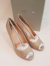 b84d9b4b3ea2 Carvela Women's Bronze Geraldine Open Toe Stiletto Courts High Heels -Uk6 /  Eu39