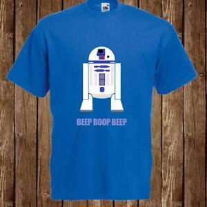 Homme asked Design Rétro Star Wars R2D2 ROBOT Imprimé T Shirt Tee livraison gratuite uk  </span>