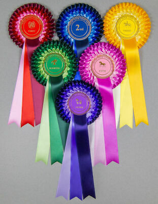 10 sets 1st-3rd 1 Tier Rosettes BIS RBIS,BP PERSONALISED