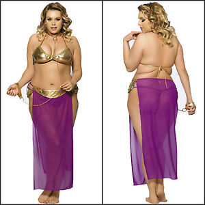 Image is loading Plus-Size-Women-s-Purple-Harem-Slave-Bedroom-  sc 1 st  eBay : costume plus size women  - Germanpascual.Com