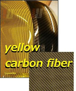 graphic relating to Printable Hydrographic Film named Information over YELLOW CARBON FIBER Hydrographics Motion picture Drinking water Shift Printing 50x100cm PVA !