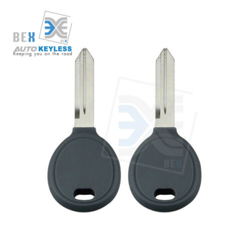 2 Transponder 46 Chip Ignition Car Key Replacement Blank for Chrysler Dodge Jeep
