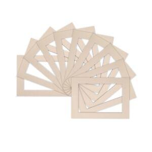 Paquete-De-10-Foto-Imagen-de-montaje-soportes-de-marco-Vario-Tamano-A4-A3-Marfil