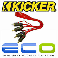 Kicker Car Stereo Radio  0.5 Metre RCA Phono Cables Leads 1 Pair of RCA RED
