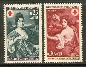 TIMBRES-1580-1581-NEUF-XX-LUXE-TABLEAUX-DE-MIGNARD