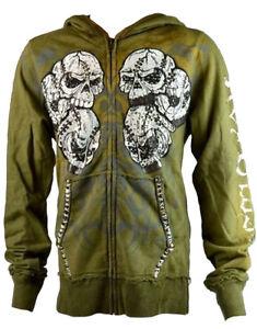 Closet Print met Key kctp005 en Iconic Army Zip Mannensweater Skull Bull 2 capuchon UdqSgwq