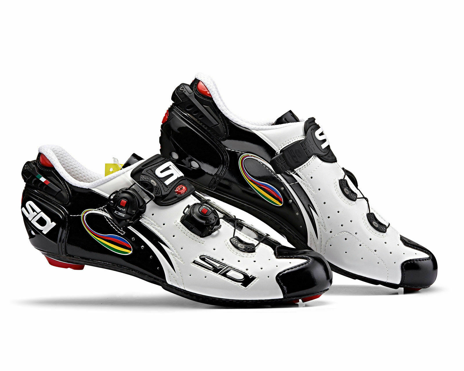 [SIDI] Wire Carbon Vernice Vernice Vernice Road Bike Bicycle Cycling scarpe bianca-nero-Iride 5fdf7c