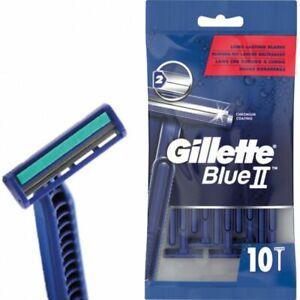 10 Stück Gillette Blue 2 II Einwegrasierer Herrenrasierer Rasierer NEU/OVP 1x10