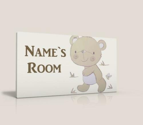 NAME PLAQUE BEAR AND FRIENDS FREE P/&P PERSONALISED DOOR SIGN