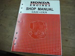 honda gx22 gx31 engine service repair shop manual 61zm300 w rh ebay ie Manual Book Manual Book