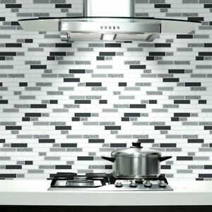 Black White Grey With Glitter Tiling On A Roll Kitchen