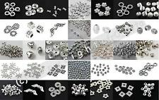 ?? 3 FOR 2 ?? 100 Silver Spacer Beads For Jewellery Making Different Styles