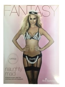 5bd0cf8d6 LARGE (16-18) - NAUGHTY MAID OUTFIT   COSTUME   BLACK LINGERIE by ...