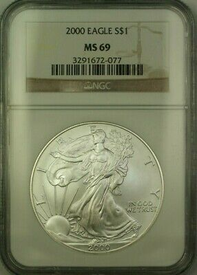 1997 American Silver Eagle $1 Coin ASE NGC MS-69 JAB