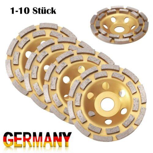 1//5//10 Schleifteller Diamant Schleiftopf Topfscheibe 125mm Betonschleifer Beton