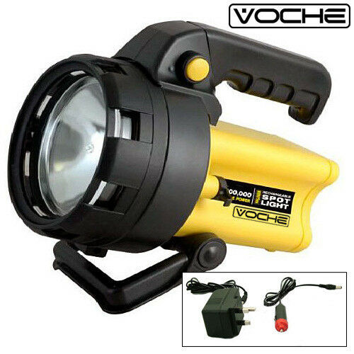 VOCHE  3 MILLION CANDLE HIGH POWER RECHARGEABLE CORDLESS HALOGEN SPOTLIGHT TORCH