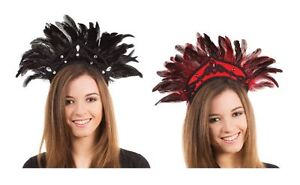 Burlesque-Dancer-Black-Red-Feather-Brazilian-Carnival-Headdress-Fancy-Dress