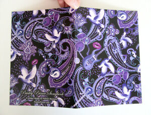 """Prince Themed """"Paisley Prince Songbook"""" Greetings Card or Birthday Card"""