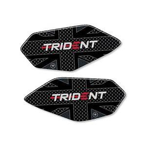 Adesivi in resina 3D per battitacco compatibili con Triumph Trident dal 2021