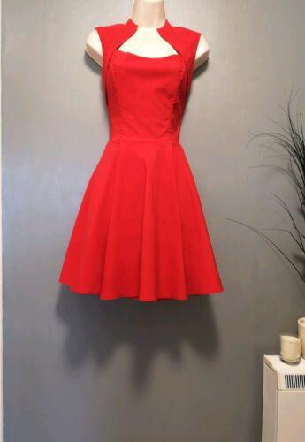 Dress Vintage Red Pinup 50s Tea Swing Rockabilly E0wxqOxYS