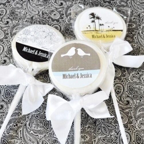 96 Elite Design sucettes personnalisées Lollipop Wedding Bridal Shower Favors
