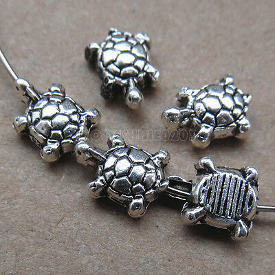 25pc Retro Tibetan Silver Tortoise Spacer Beads Accessories Jewelry Making PJ130