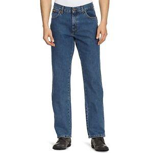 Wrangler-Texas-Vaqueros-Stonewash-Pierna-Recta-Cintura-30-46-Todas-Las-Tallas