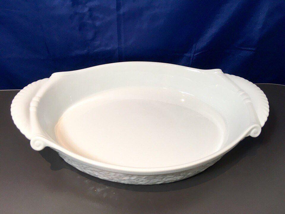 Bernardaud Limoges Louvre blanco Plat a rojoir cm.40 -3491- Oval roasting dish NEW