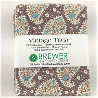 7 Tilda Fat Quarters Gift Berry Jams /& Plum Dots TILDA PLUM GARDEN Calm Extras Metric Fat Quarter Bundle