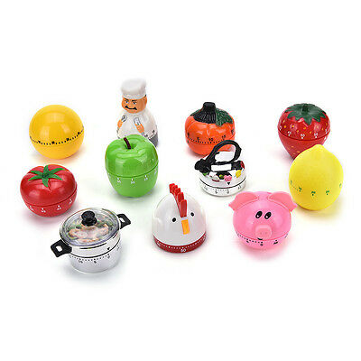 Creative Plastic Mechanical Kitchen Cooking Alarm Timer Reminder 60Minute ToolsO