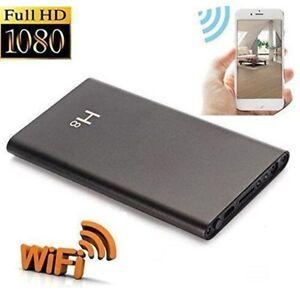 2-en-1 10000mAh Power Bank y 4K WiFi Recorder Spy C/ámara Oculta C/ámara de visi/ón Nocturna HD 1080P DVR