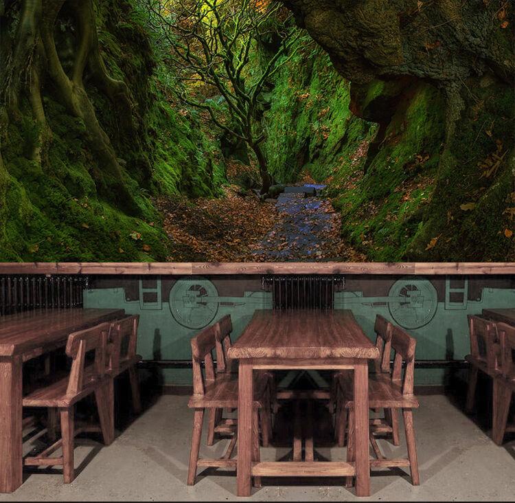 3D Vert Forêt 432 Photo Papier Peint en Autocollant Murale Plafond Chambre Art