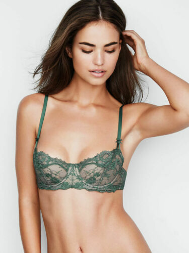 38D Deep Green Lace WICKED Dream Angel UPLIFT PushUp wo pad Victorias Secret Bra